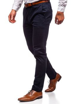 Men's Chino Trousers Navy Blue Bolf 1120
