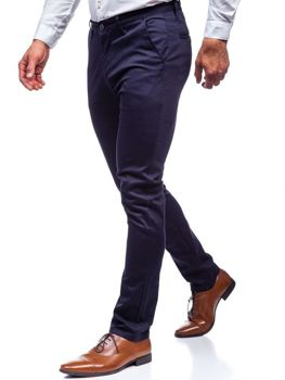 Men's Chino Trousers Navy Blue Bolf KA969