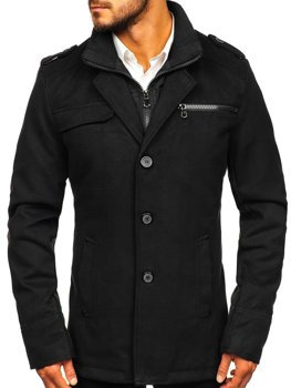 Men's Coat Black Bolf 8856