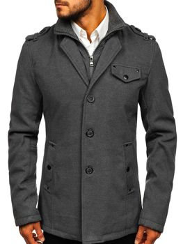 Men's Coat Grey Bolf 8853