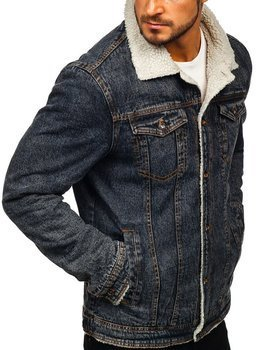 Men's Denim Jacket Black Bolf 1109