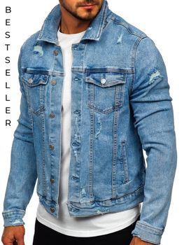 Men's Denim Jacket Blue Bolf AK581