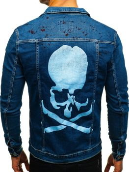 Men's Denim Jacket Navy Blue Bolf 2052-1