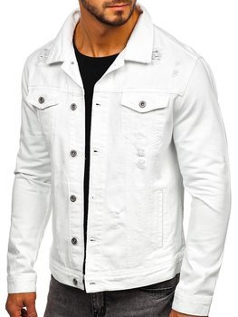 Men's Denim Jacket White Bolf 55111