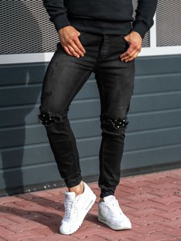 Men's Denim Joggers Anthracite Bolf 2044-1