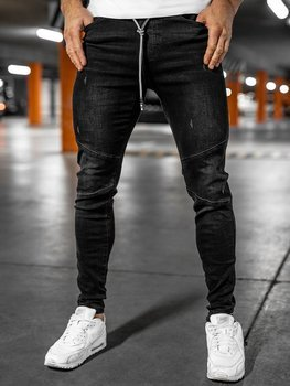 Men's Denim Joggers Black Bolf T298