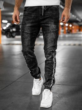 Men's Denim Joggers Black Bolf T345