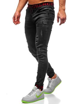 Men's Denim Joggers Blacke Bolf KA1131