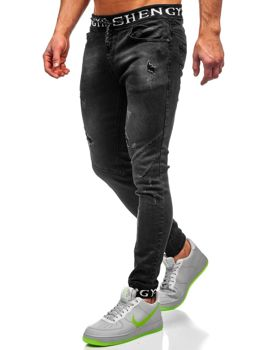 Men's Denim Joggers Blacke Bolf KA1857