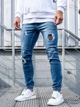 Men's Denim Joggers Blue Bolf 2036-1