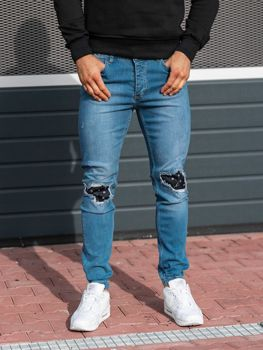 Men's Denim Joggers Blue Bolf 2044-1