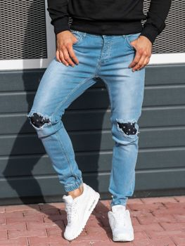 Men's Denim Joggers Light Blue Bolf 2044-1