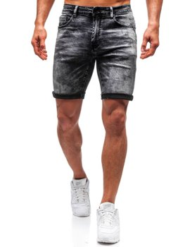 Men's Denim Shorts Black Bolf T571