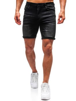 Men's Denim Shorts Black Bolf T572
