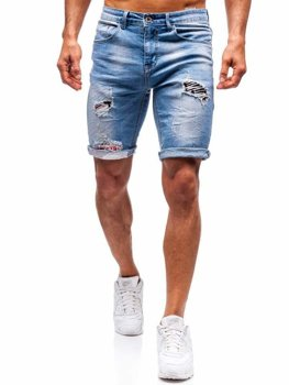 Men's Denim Shorts Blue Bolf 3962