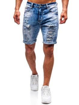Men's Denim Shorts Blue Bolf T567