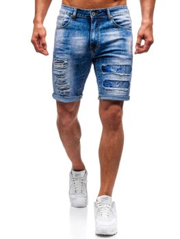 Men's Denim Shorts Blue Bolf T577