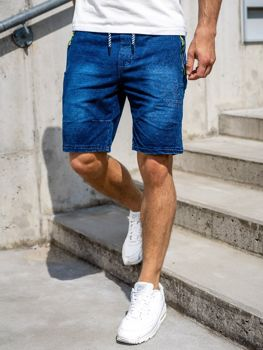 Men's Denim Shorts Navy Blue Bolf 5784