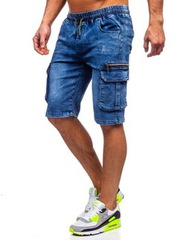 Men's Denim Shorts Navy Blue Bolf HY659