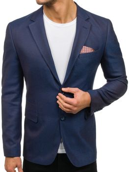 Men's Elegant Blazer Blue-Brown Bolf 2222