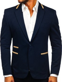 Men's Elegant Blazer Navy Blue Bolf 9400
