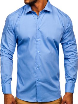 Men's Elegant Long Sleeve Shirt Blue Bolf SM39