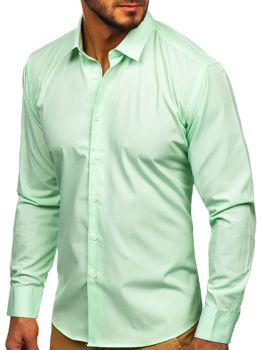 Men's Elegant Long Sleeve Shirt Mint Bolf 0001