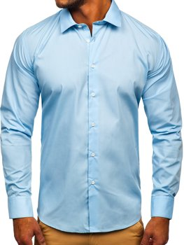Men's Elegant Long Sleeve Shirt Sky Blue Bolf SM38