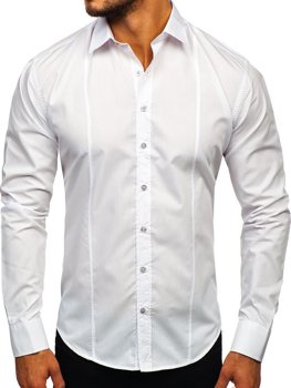 Men's Elegant Long Sleeve Shirt White Bolf 4705G