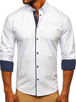 Men's Elegant Long Sleeve Shirt White Bolf 7724