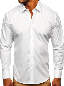 Men's Elegant Long Sleeve Shirt White Bolf SM13
