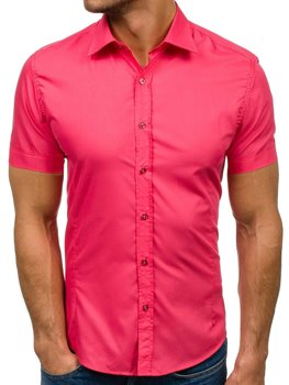 Men's Elegant Short Sleeve Shirt Coral Bolf 7501