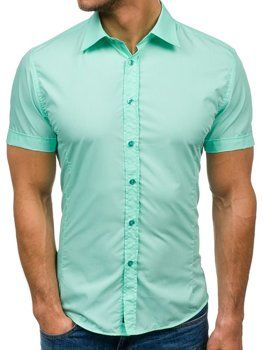 Men's Elegant Short Sleeve Shirt Mint Bolf 7501