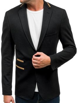 Men's Elegant Suit Jacket Black Bolf 9400