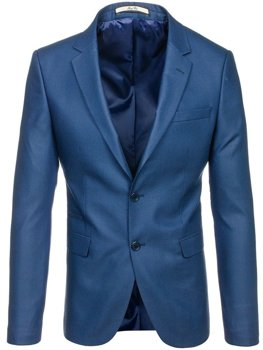 Men's Elegant Suit Jacket Light Blue Bolf 1050