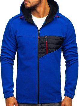 Men's Fleece Hoodie Blue Bolf YL011