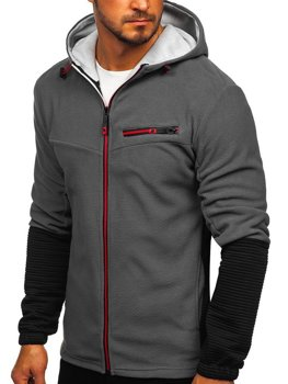 Men's Fleece Hoodie Graphite Bolf YL005