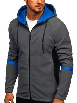 Men's Fleece Hoodie Graphite Bolf YL007