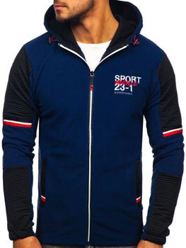 Men's Fleece Hoodie Navy Blue Bolf YL006