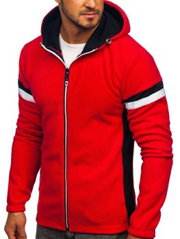Men's Fleece Hoodie Red Bolf YL008