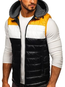 Men's Hooded Gilet Black Bolf 6105