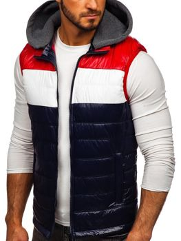 Men's Hooded Gilet Navy Blue Bolf 6105
