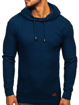 Men's Hooded Jumper Blue Bolf 7004