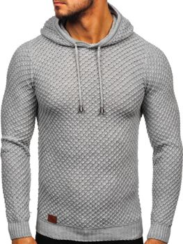 Men's Hooded Jumper Grey Bolf 7004