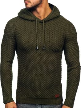 Men's Hooded Jumper Khaki Bolf 7004
