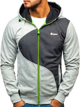 Men's Hoodie Grey-Anthracite Bolf T955