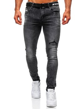 Men's Jeans Slim Fit with Belt Black Bolf 60026W0
