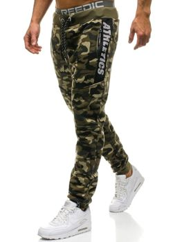 be84b1bc79d3d Men's Jogger Sweatpants Camo-Green Bolf QN271 GREEN