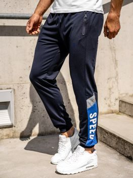 Men's Jogger Sweatpants Navy Blue Bolf HY717