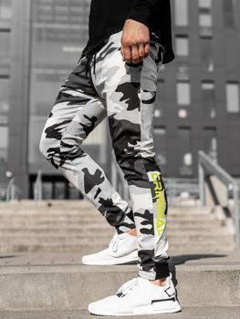 Men's Joggers Black-White Bolf 11119